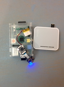 Le matos, Raspberry+Xadow BLE+piratebox